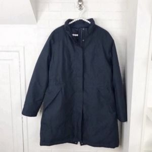 {The North Face} XXL Navy Winter Puffer Lined Coat